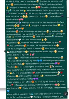 Happy Birthday Best Friend Quotes, Happy Birthday Quotes For Friends, Birthday Quotes For Best Friend, Cute Texts For Him, Birthday Captions Instagram, Messages, Message For Boyfriend, Happy Birthday Paragraph, Vocabulary Builder