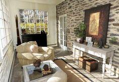 Dining Room: Interior Stone Wall