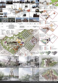 Revitalization of Makoszowy Mine Revitalization Kokoro, Architectural Drawings, Deviantart, Projects, Poster, Design, Log Projects, Architecture Drawings, Design Comics