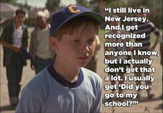 """So how often do people say """"You're killing me, Smalls!"""" to the real life Scott Smalls? The Sandlot, I School, New Jersey, Real Life, Sayings, Tv, People, Movies, Films"""