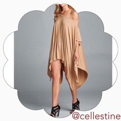 ✨Taupe Color Asymmetric Lose Fit Top Tunic✨ Taupe color asymmetrical loose fit top. Very Comfortable. Perfect for Spring and summer. One size fits most. 95% Rayon & 5% spandex.   Made in USA April Spirit Tops Tunics