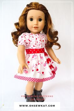 Budget Friendly Doll Clothes- DIY Valentine Dresses with Oh Sew Kat! Patterns – Oh Sew Kat!