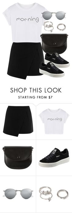 """""""Sin título #12102"""" by vany-alvarado ❤ liked on Polyvore featuring Warehouse, WithChic, Puma, Ray-Ban and Forever 21"""