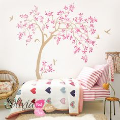Gärtnerei Baum Wandtattoo zur Dekoration von theOliviaDesign