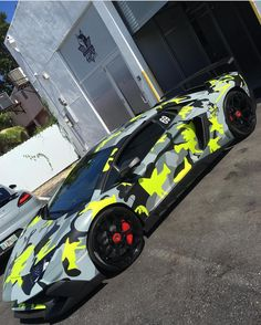 Lamborghini Aventador Super Veloce Coupe painted in Giallo Orion and wrapped in Camo w/ a full Novitec Torado SV kit and Exhaust  Photo taken by: @pperezc on Instagram (He is also the owner of the car)