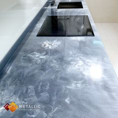 Metallic Epoxy Singapore specialises in metallic epoxy coatings and installations, offering customisable solutions for floors and countertops in Singapore. Epoxy Resin Countertop, Kitchen Countertops, White Highlights, Lava Flow, Topcoat, Singapore, How To Find Out, Marble, Metallic