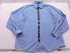 Rag Union Mens Blue Pine Tar Blue Button Down XL by KCteedesigns on Etsy