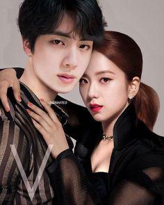 #jinsoo #bangpink Bts Girl, Bts Boys, Kpop Couples, Cute Couples, Bts Imagine, Korean Couple, Black Pink Kpop, Blackpink And Bts, Sakura And Sasuke