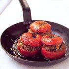Bijgerecht: Een heerlijk recept: Gevulde tomaten op zn Grieks Greek Recipes, Bistro, Breakfast, 14 November, Food, Rue, Seeds, Morning Coffee, Essen