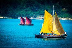 Colourful Sails.  Freixo, Outes,   A Coruña. Galicia