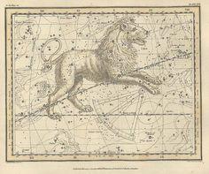 Resultado de imagen de Antique-Map-Celestial-Stars-Constellations-1725