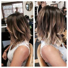 Balyage highlights for a long bob. Parlor for Hair, Napa by JaneSmit