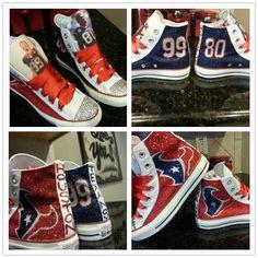 Custom Texans sneakers by Akkustomz on Etsy