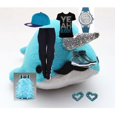 Hip hop outfit, created by qt-michaila on Polyvore