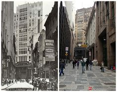 Then and Now - Joao Bricola street, the 40's and 2013