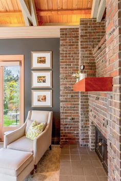 Living Room With Red Brick Fireplace exposed brick living room | living room | pinterest | exposed