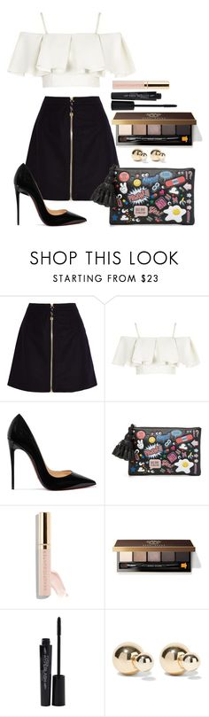 """Untitled #1626"" by fabianarveloc ❤ liked on Polyvore featuring Acne Studios, Topshop, Christian Louboutin, Anya Hindmarch, Beautycounter, Bobbi Brown Cosmetics, Smashbox and Kenneth Jay Lane"