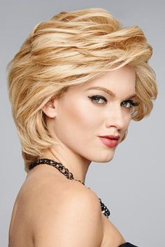Applause Human Hair Lace Front Hand-Tied Wig by Raquel Welch - The HeadShop Wigs Trending Hairstyles, Braided Hairstyles, Lace Front Wigs, Lace Wigs, Wilshire Wigs, Raquel Welch Wigs, Curly Hair Styles, Natural Hair Styles, Natural Beauty