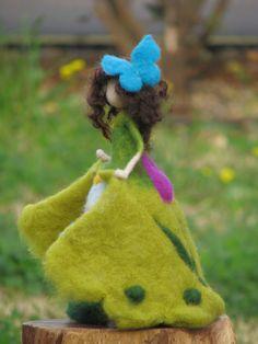 Needle felted Waldorf inspired Art doll Spring door Made4uByMagic