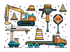 Construction & Road Work by Tyler Mays #Design Popular #Dribbble #shots