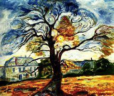 'Eken', 1906 por Edvard Munch (1863-1944, Norway)