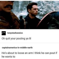 and also become the winter soldier but you know
