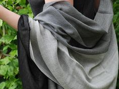I've never felt anything as soft as this double layered charcoal shawl. My old (admittedly cheap, knock-off) pashminas have been revealed as itchy crap, compared to this!!