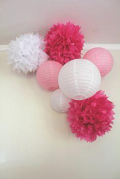 love the tissue pom poms