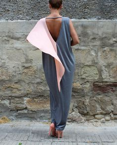 Check out this item in my Etsy shop https://www.etsy.com/listing/238361976/gray-backless-dress-maxi-dress-caftan