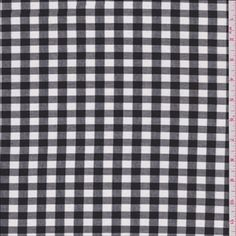 White/Black Buffalo Plaid Shirting - 27338 - Fabric By The Yard At Discount Prices - $3.95