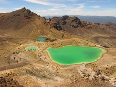 The Emerald Lakes on the Tongariro Crossing, New Zealand