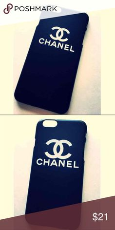 3e1f91d831a0 Black Chanel phone case for iphone 7 plus Chic Fashion Black Chanel phone  case for iphone