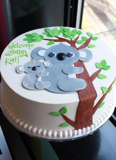 Koala Bear Baby Shower Cake | Whipped Bakeshop
