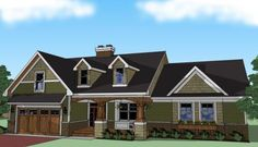 House Plan 098-00261 - Southern Plan: 2,023 Square Feet, 3 Bedrooms, 2 Bathrooms