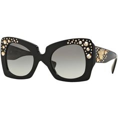 4b8c72d3055e6 Versace Square Studded-Temple Sunglasses ( 540) ❤ liked on Polyvore  featuring accessories