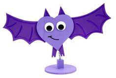 Wobble Bat Clip #kids #craft #halloween