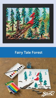 Experiment using Crayola® Modeling Clay in a non-traditional way with the Fairy Tale Forest lesson plan. Directions and materials list supplied. Also included are objectives, grade levels, and correlations to National Core Arts Standards. Developed by our Sax Art Consultants.