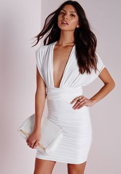 Missguided - Do It Any Way Multiway Slinky Bodycon Dress White