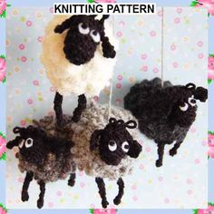 Knitting Pattern PDF Document Beth Sheep Lamb Mobile by AdelKay, £2.50
