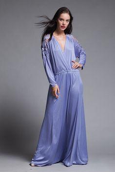 6cc46890e72 plus size maxi dress cutout soutache leaf eyelet slinky soft draped purple knit  vintage 70s XL