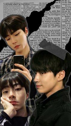 Korean Drama List, Banner Design Inspiration, Eunwoo Astro, Handsome Korean Actors, My Bebe, Collage Background, Foto Bts, Iphone Wallpaper Tumblr Aesthetic, Aesthetic Words