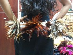 Tahitian Dance Costume Feather hip belt. $78.00, via Etsy.