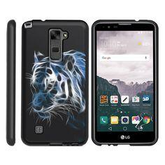 LG Stylus 2 Case SNAP SHELL 2 Piece Design Case - White Tiger