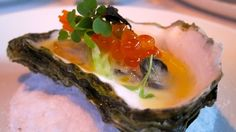 Hama hama oysters - raw, with a little ponzu and ikura. Heaven.
