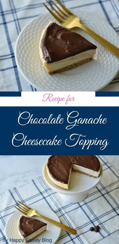 Chocolate Ganache, chocolate topping for cheesecake recipe is rich and creamy. Learn how to make chocolate topping for cheesecake. Cheesecake Toppings, Oreo Cheesecake, Chocolate Cheesecake, Pumpkin Cheesecake, Cheesecake Recipes, Dessert Recipes, Yummy Recipes, Strawberry Cheesecake, Baking Recipes
