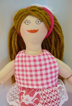 Brunette Dress Up Doll  For Kids  Toy Doll by JoellesDolls on Etsy