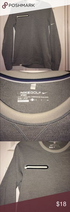 Nike Golf Sweater Super clean small dry fit sweater. It has a pocket in front as you can see in the picture with elbow lining 100% Polyester. 💥🔥 Nike Sweaters