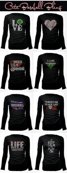 Really Cute Rhinestone Baseball Shirts which can be customized.
