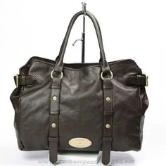Womens Mulberry Hayden Leather Tote Bag Dark Coffee Outlet USA