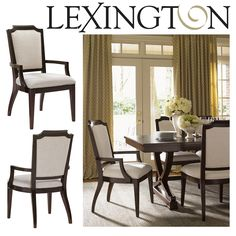 Candace Dining Arm Chair in Brentwood Finish & Soft Ivory Fabric #dynamichome #homedecor #interiordesign #interiors #dining #chair #diningchair #traditional #transitional #style #designer #decor #brentwood #ivory #fabric #wood #furniture #diningroom #kitchen #lexington